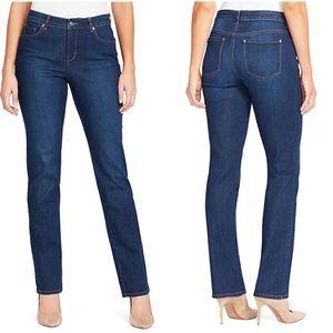 Gloria Vanderbilt Jeans Rail Straight Dark Wash